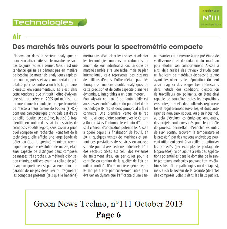 techno 2013 Green news